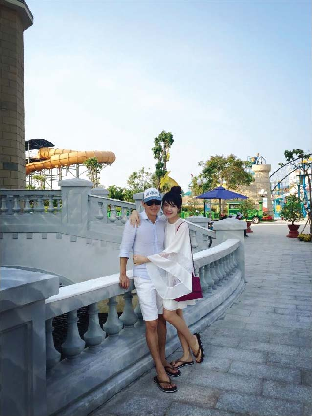 Những tháng đầu mang thai, Minh Hà hầu như không tăng cân.