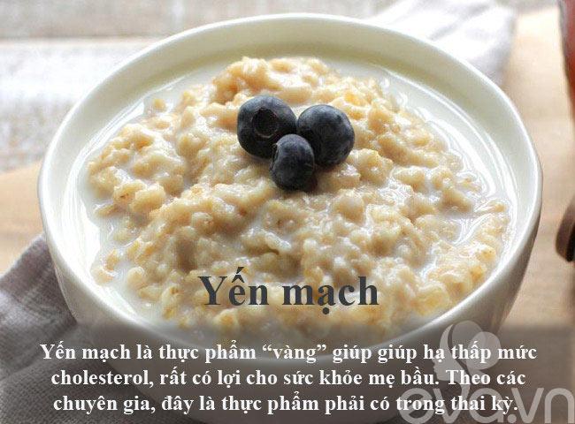 Top 10 thực phẩm mẹ bầu ăn cho con 6
